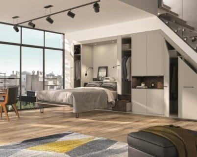 Un lit rabattable pour créer une chambre dans votre intérieur